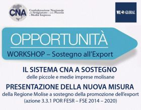 Opportunità - Workshop sostegno all'export