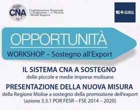 Opportunità - Workshop sostegno all'export
